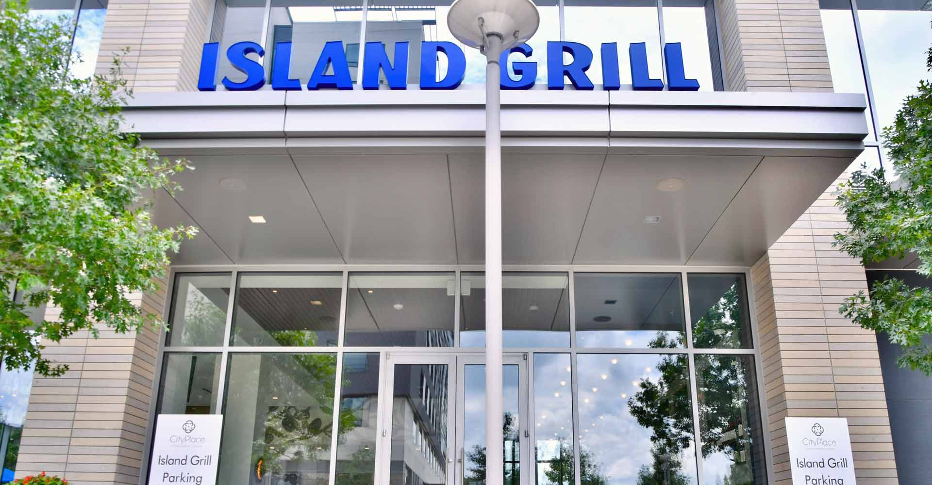 Island Grill restaurant exterior front entrance